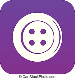 Sewing button icon digital purple