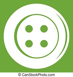 Sewing button icon green