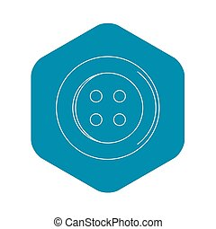 Sewing button icon, outline style