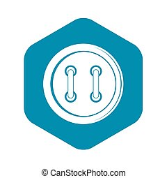 Sewing button icon, simple style