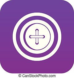 Sewing button with a thread icon digital purple