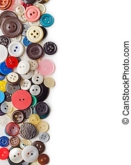 Sewing buttons border