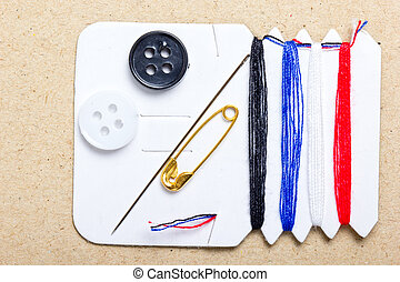 Sewing buttons easy set