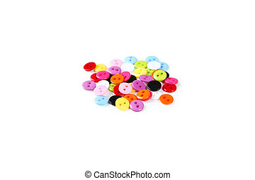 Sewing buttons isolated on white