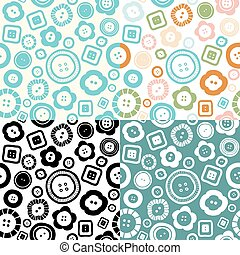 Sewing buttons seamless pattern