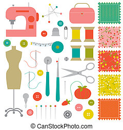 Sewing clipart - A collection of all kinds of sewing...