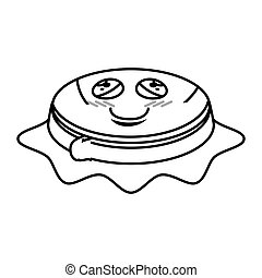 Sewing drum comic character