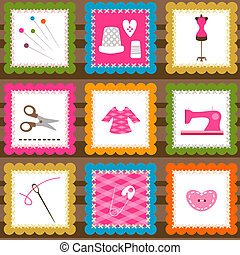 sewing elements background