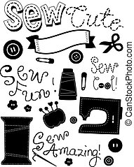 Sewing Elements Stencil