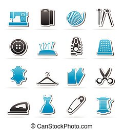 sewing equipment and objects icons
