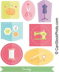 Sewing Icons Flat Elements