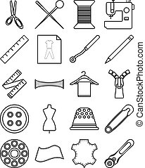 Sewing Icons (Line)