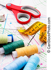 Assorted sewing items