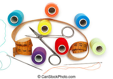 Sewing kit - Accessories for sewing and cutting. Needle...