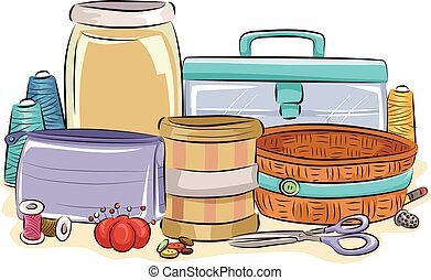 Sewing Kit Containers