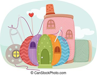 Sewing Kit House