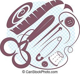 Sewing kit vector illustration