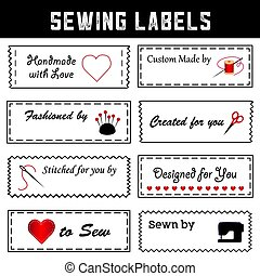 Sewing Labels for DIY Fashion, Sewing, Tailoring, Crafts