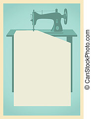 Sewing machine background - Retro background with sewing...