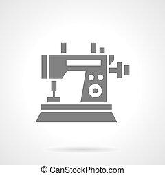 Sewing machine black glyph symbol vector icon