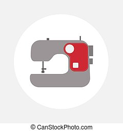Sewing machine icon.