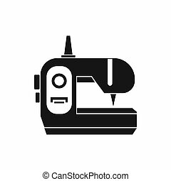 Sewing machine icon, simple style