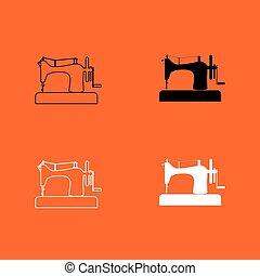 Sewing machine icon .