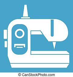 Sewing machine icon white