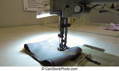 Needle with thread for sewing clothes. - Sewing machine. ...