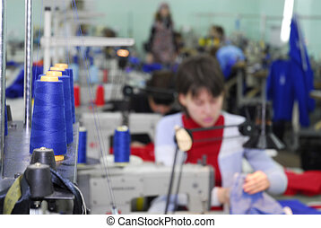 sewing-machine on factory