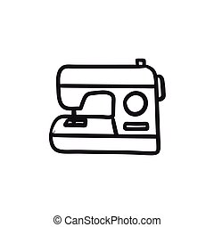 Sewing-machine sketch icon. - Sewing-machine vector sketch...