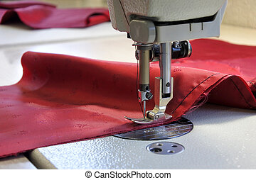 Sewing machine stitch fabrics