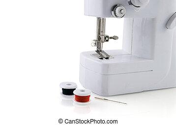 sewing-machine with bobbins