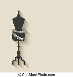 sewing mannequin background - vector illustration. eps 10