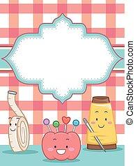 Sewing Mascots Invite