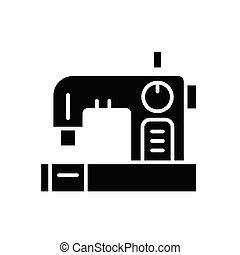 Sewing of clothes black icon concept. Sewing of clothes flat  vector symbol, sign, illustration.