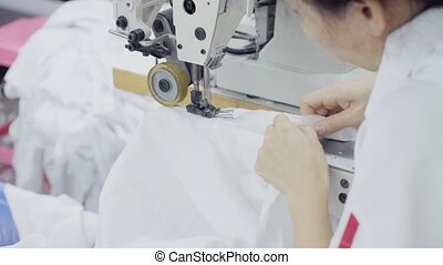 sewing of white shirt