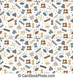 Sewing or knitting seamless pattern design