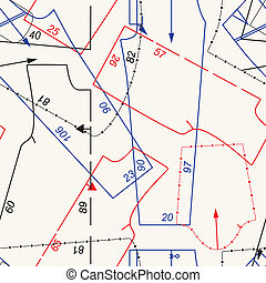 Sewing pattern background - Seamless sewing pattern...