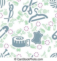 sewing seamless pattern