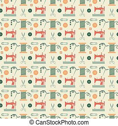 Sewing seamless pattern - Vector sewing seamless pattern...