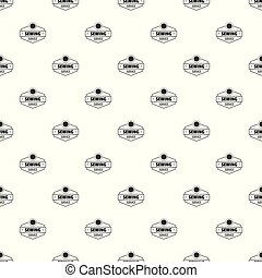 Sewing service pattern vector seamless repeat for any web...