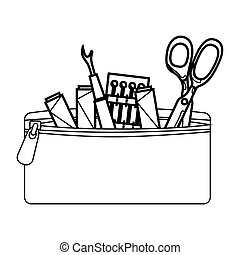 Sewing set isolated icon
