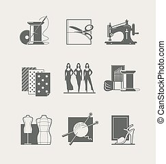 Sewing. Set of icons - Sewing. Set of vector icons. Eps8...
