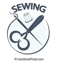Sewing silhouette vector