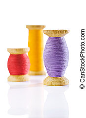 sewing spools isolated