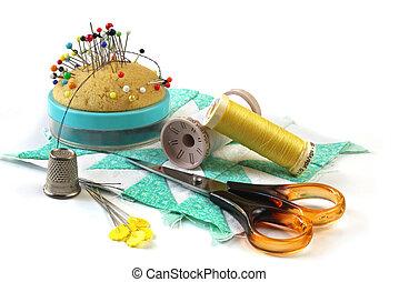 Sewing Stuff - Sewing stuff - pincusion, thimble, thread,...