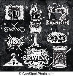 Sewing symbol chalk