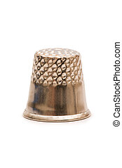 Sewing thimble isolated on the white background