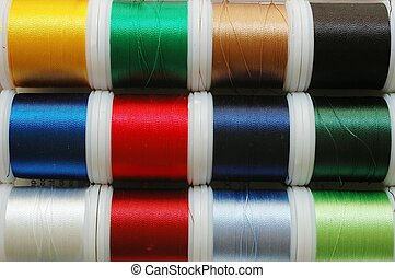 Sewing thread. Assorted colors.